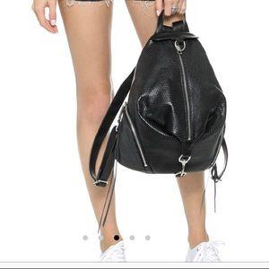 Rebecca Minkoff perforated Black Leather backpack